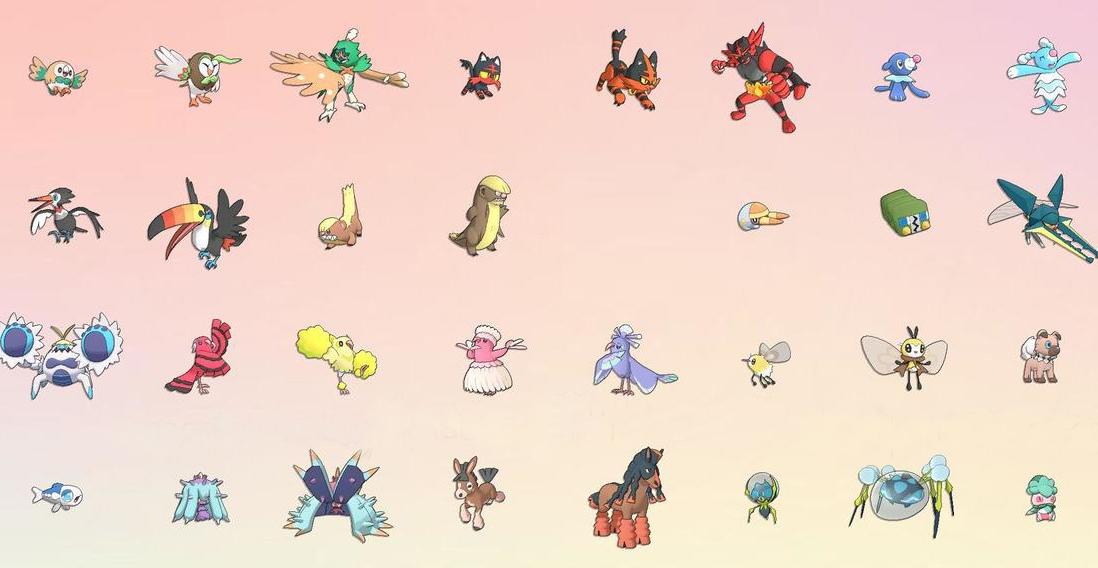 Le Pokedex Entier De Pokemon Lune Et Pokemon Soleil Wiki Dragon
